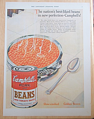 1928 Campbell's Pork and Beans with Bowl & Can of Beans (Image1)