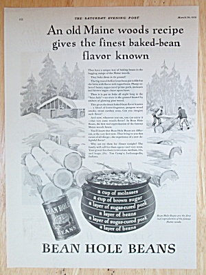 1929 Bean Hole Beans with the Maine Woods Recipe  (Image1)