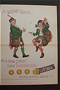 1950's Butterscotch Lifesavers with Boy & Girl in Kilts (Image1)