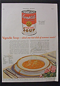 1928 Campbell's Vegetable Soup