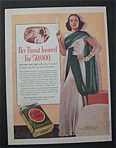 1938 Dual  Ad: Lucky Strike Cigarettes & Baker's  Cocoa (Image1)