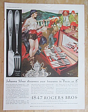 1930 1847 Rogers Bros Silverplate with Johanna Silver  (Image1)