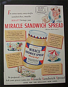 1941 Miracle Sandwich Spread