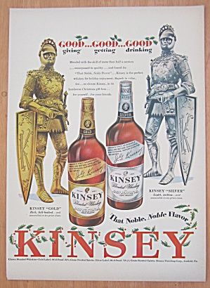 1948 Kinsey Whiskey With 2 Men In Suits Of Armor