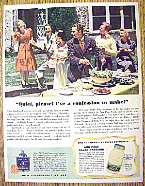 1941 Ann Page Salad Dressing