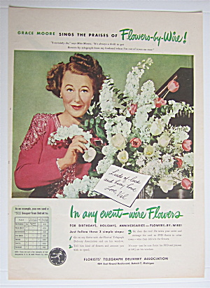 1945 FTD Florists  Telegraph  Delivery with Grace Moore (Image1)