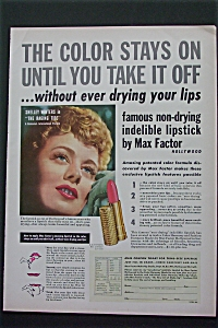 Vintage Ad: 1951 Max Factor With Shelley Winters