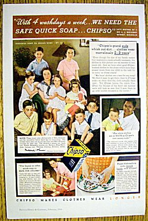 1936 Chipso Quick Suds Soap w/ Woman & 9 Children (Image1)