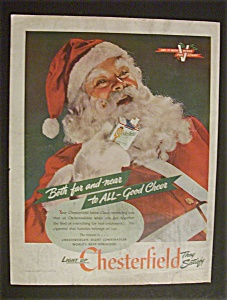 1944 Chesterfield Cigarettes with Santa Claus (Image1)