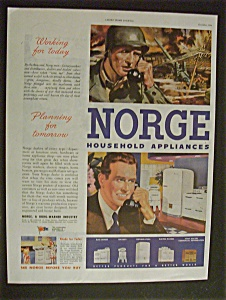1944 Norge Household Appliances w/Man At War & Home (Image1)