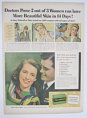 1944 Palmolive Soap With Lovely Woman Smiling