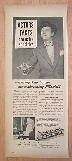 1940's Williams Shaving Cream with Ray Bolger   (Image1)