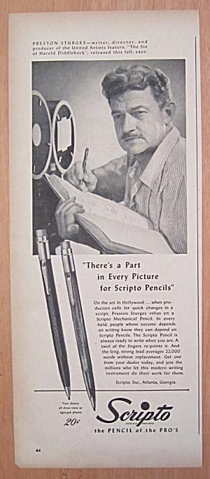 1940's Scripto Pencils with Writer Preston Sturges (Image1)
