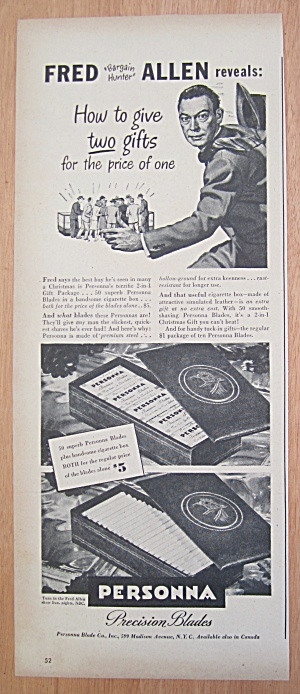 1940's Personna Precision Blades with Fred Allen (Image1)