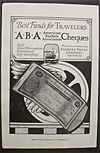 Vintage Ad: 1920 American Bankers Cheques (Image1)