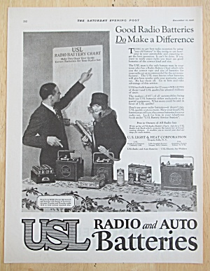 1925 USL Radio & Auto Battery with Man & Woman  (Image1)