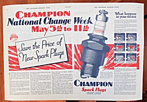 1929 Champion Spark Plugs with Champion Spark Plug (Image1)