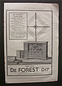 Vintage Ad: 1925 De Forest Radio Co.
