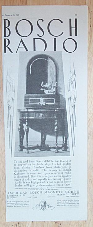 1929 Bosch Radio with Bosch All Electric Radio (Image1)