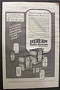 Vintage Ad: 1925 Eveready Radio Batteries