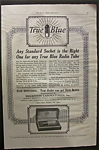 Vintage Ad: 1925 True Blue Radio Tube