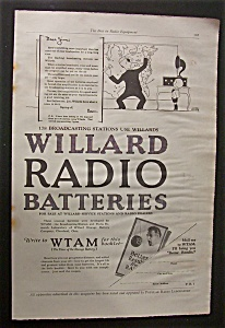 Vintage Ad: 1925 Willard Radio Batteries