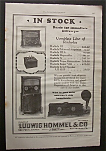 1925 Ludwig Hommel & Co Radiolas w/ 4 Different Models (Image1)