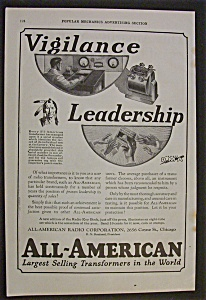 Vintage Ad: 1925 All American Transformers