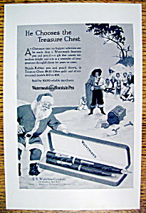 Vintage Ad: 1926 Waterman's Fountain Pen with Santa (Image1)