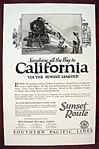 Vintage Ad: 1926 Southern Pacific Lines