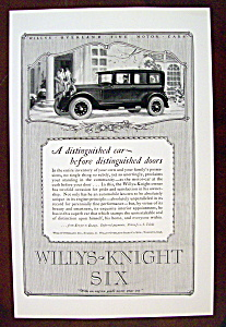 Vintage Ad: 1926 Willys Knight Six