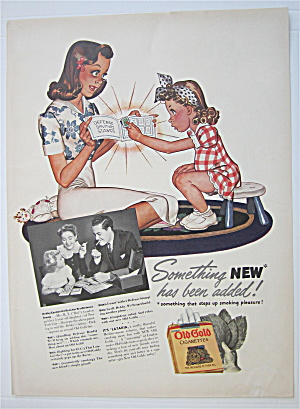 1942 Old Gold Cigarettes with Little Girl & Woman  (Image1)