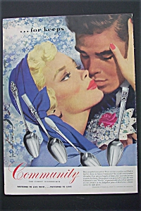 1951 Community Silverplate with Couple Kissing  (Image1)