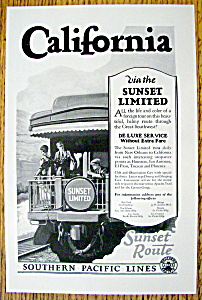 Vintage Ad:1926 Southern Pacific Lines (Sunset Limited)