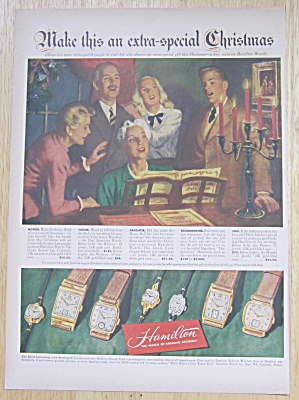 1947 Hamilton Watch With Family Singing Around Piano
