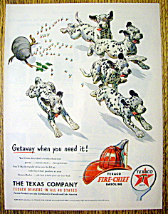 1951 Texaco Fire Chief Gasoline W/dalmatians