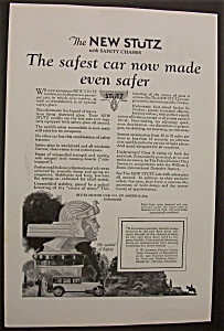 Vintage Ad: 1926 The New Stutz with Safety Chassis (Image1)