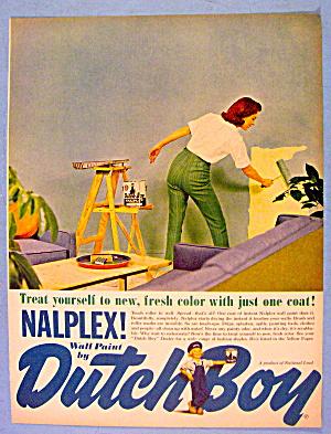 1961 Dutch Boy Nalplex Wall Paint w/ Woman Painting (Image1)