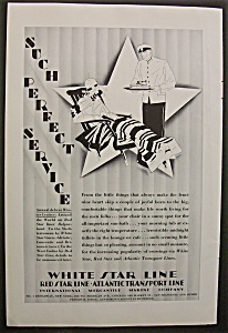 Vintage Ad: 1929  White  Star  Line (Image1)