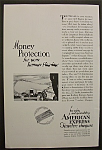Vintage Ad: 1929 American Express Travelers Cheques (Image1)