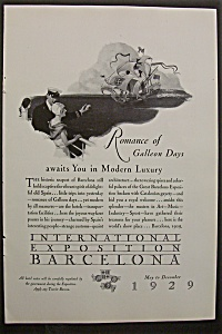 1929 International Exposition Barcelona w/Galleon Days (Image1)
