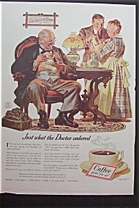 1940 Coffee Ad W/ Doctor Having Coffee By Leyendecker