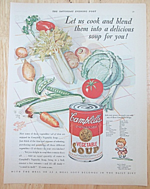 1929 Campbell's Vegetable Soup with Can Of Soup  (Image1)