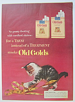 1950's Old Gold Cigarettes w/Kitten & Measuring Tape  (Image1)