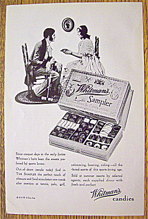 1929 Whitman's Candy Sampler with Man & Woman (Image1)