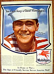 Vintage Ad: 1943 Mobilgas with Jack Kelly (Seaman) (Image1)