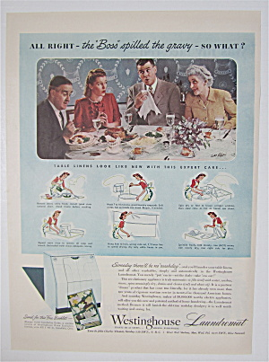1944 Westinghouse Laundromat with Family Having Dinner (Image1)