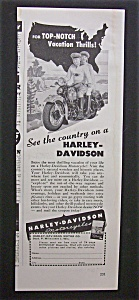 1947 Harley Davidson Motorcycle with Man & Woman (Image1)