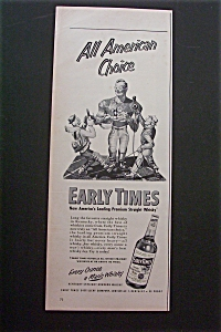1941 Early Times Whiskey with Football Player  (Image1)