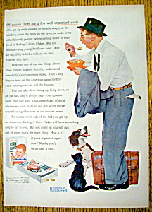 1955 Kellogg Corn Flakes By Norman Rockwell